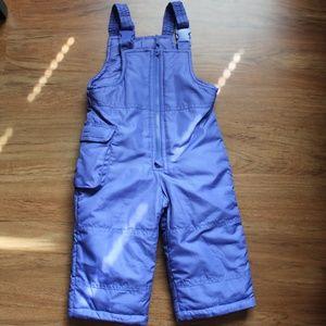 NWOT London Fog Infant Girl 12M Snow Pants Overall